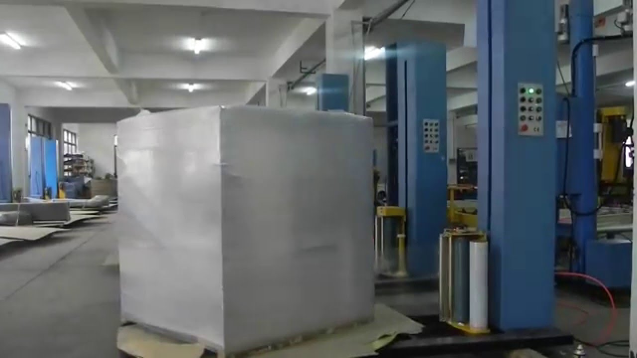 pallet shrink wrapping machine