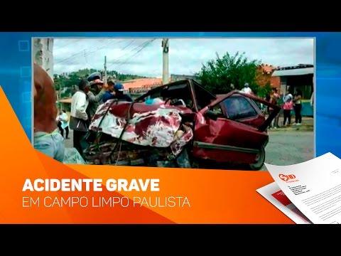 Acidente Grave em Campo Limpo Paulista - TV SOROCABA/SBT