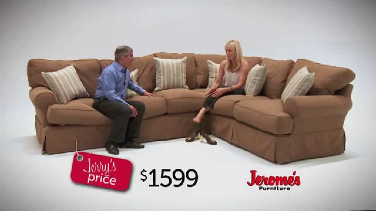 Charmant Jeromeu0027s Furniture Classic Slipcover Sectional   YouTube