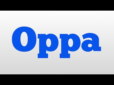 In korean language oppa means