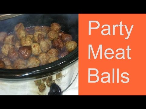 Party Meatballs Appetizers In The Slow Cooker