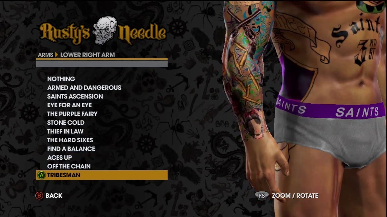 Arms Customize Tattoos On Saints Row® The Third™ Demo Initiation ...