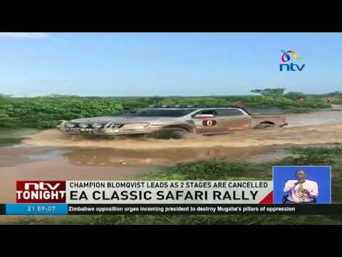 Champion Blomquist leads as 2 stages of the Classic Safari Classic Rally are cancelled