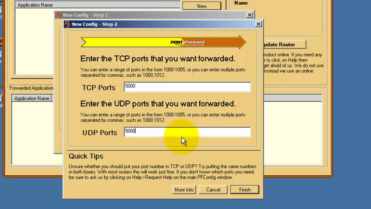 PFConfig and PFPortTester - How To Create a Custom Port Forward ...