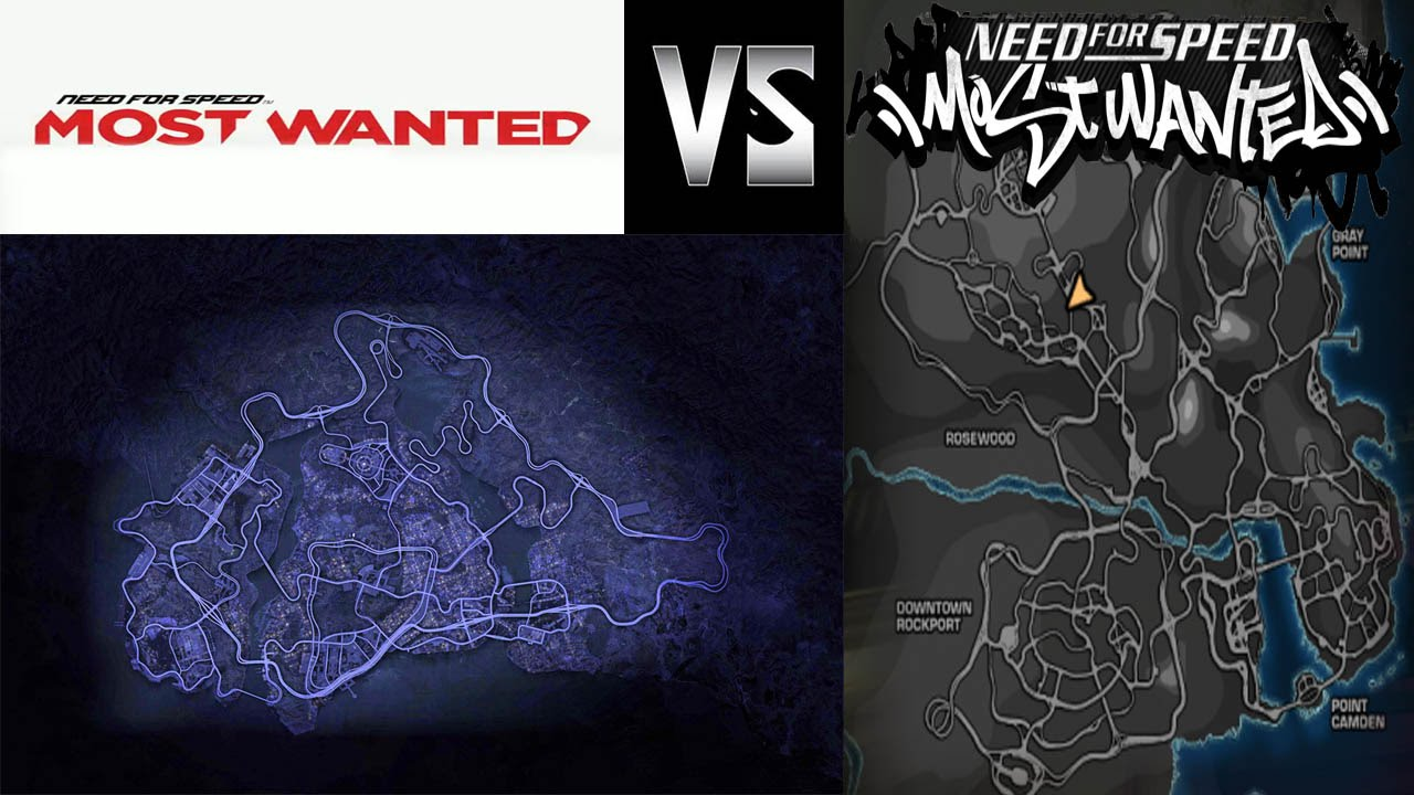 Nfs Mw 05 Vs Nfs Mw 12 Around The Map Time Comparison