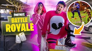 WE INVADED A SUPERMARKET IN THE SKIN OF FORTNITE!