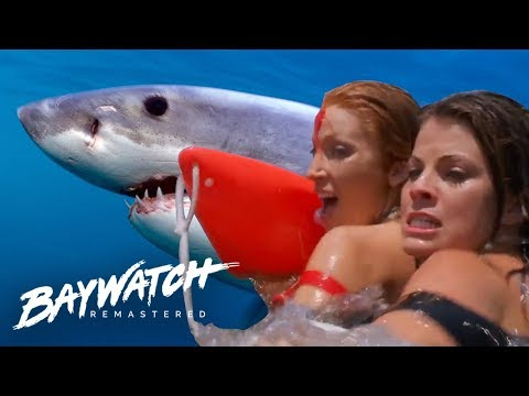 Shark Attacks As Helicopter Crashes Into The Sea! Baywatch Remastered