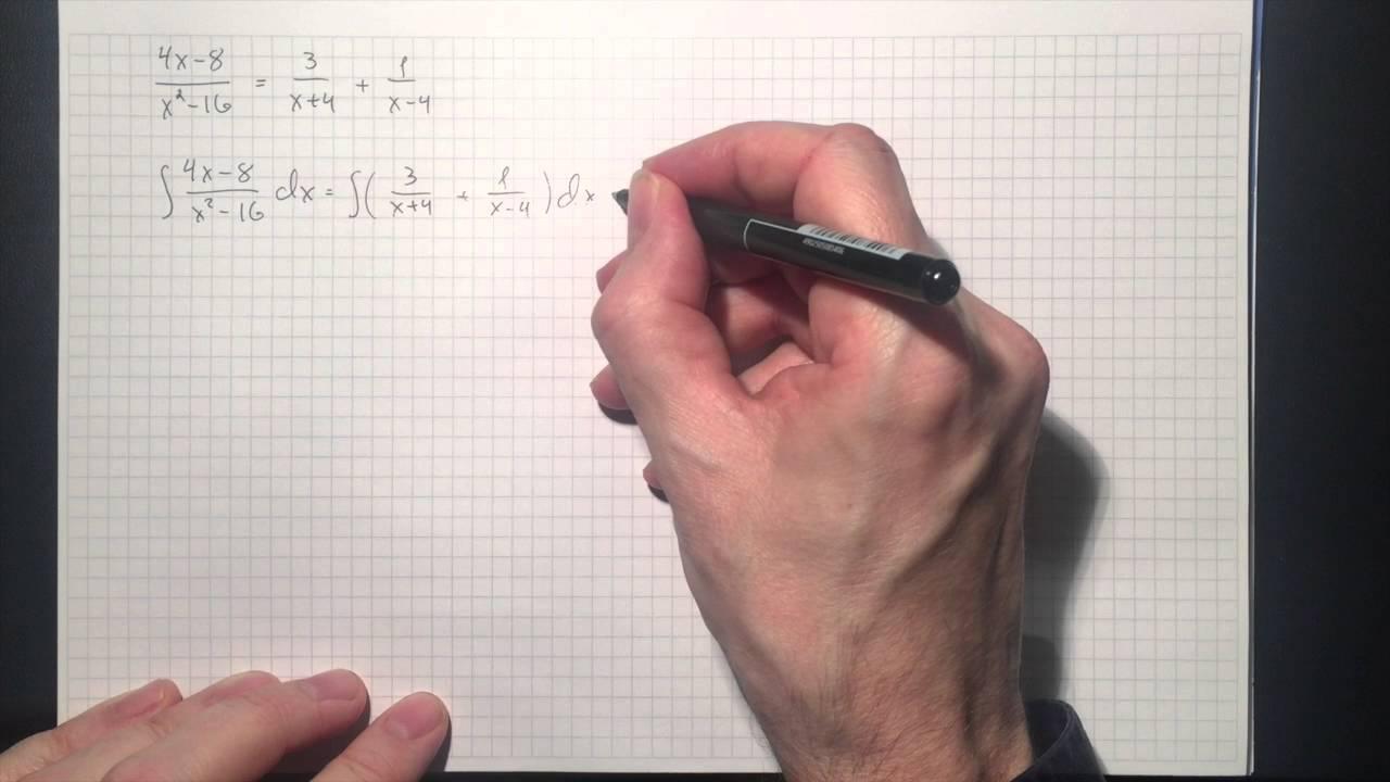 Matematikk R2: Integrasjon ved delbrøkoppspalting