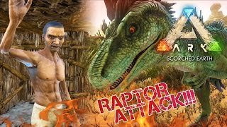 ARK: Scorched Earth - TAMING JERBOA | RAPTOR ATTACK!!! | Scorched Earth Gameplay [2]