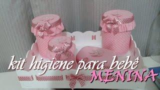 Kit higiene para bebê – meninas