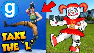 FORTNITE TAKE THE L EMOTE! BRAND NEW FNAF GMOD SISTER LOCATION PILL PACK SPOTLIGHT! Gmod Sandbox