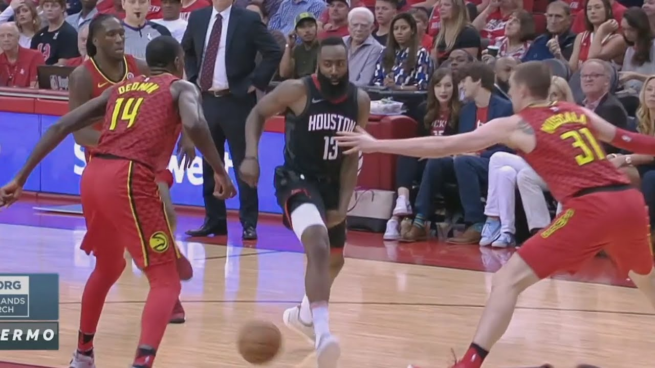 30ef441d5 James Harden Shammgod Through Legs Pass! Rockets 60 Wins! 2017-18 Season