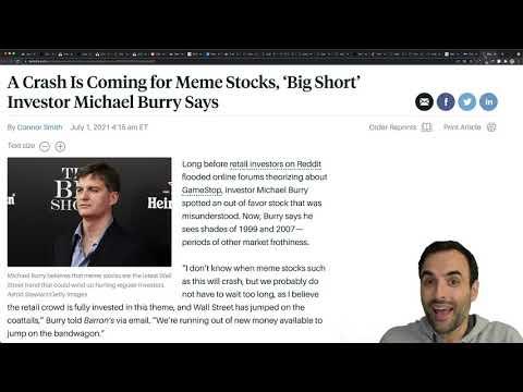 The Big Short Michael Burry Says MEME STOCKS Will Crash!
