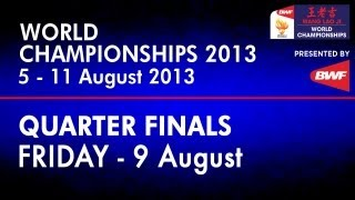 QF - MS - Lee Chong Wei vs Tommy Sugiarto - 2013 BWF World Championships