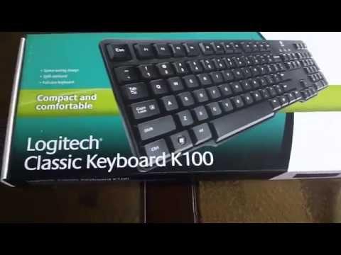 Logitech K100 - UnBoxing