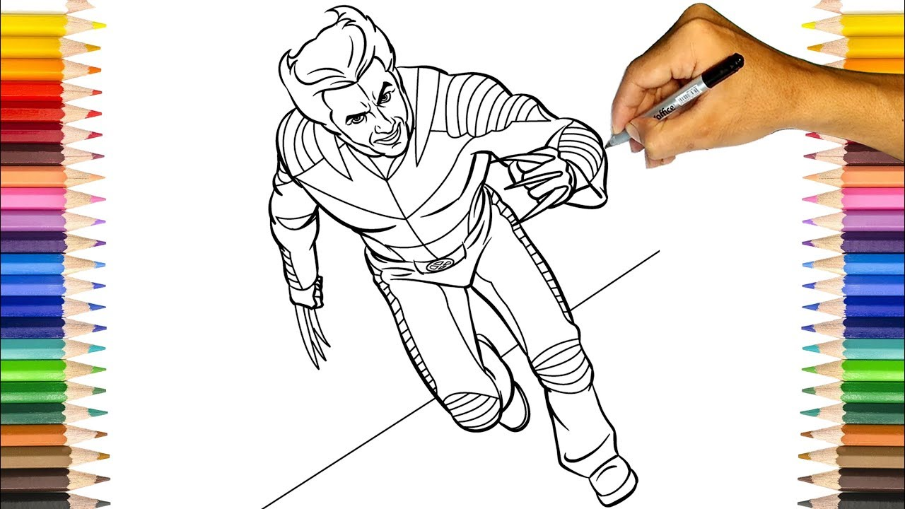 The Wolverine Coloring Pages X Men Weapon X Coloring Book Youtube