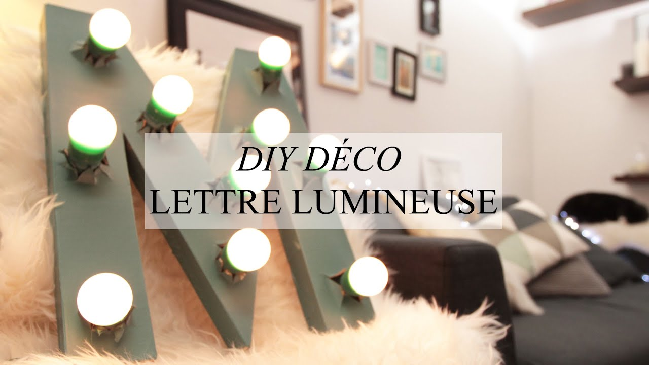 deco lettres lumineuses. Black Bedroom Furniture Sets. Home Design Ideas