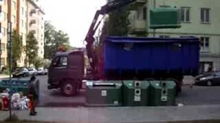 how dumpsters work in Sweden