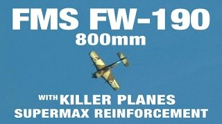 Takes a Lickin' - Crashing the FMS  800mm FW-190 with Supermax Reinforcement
