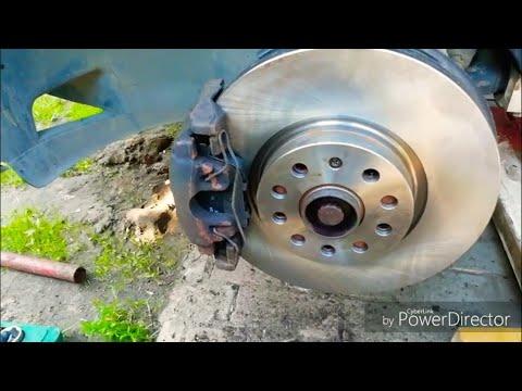 VW tiguan замена тормозных колодок и дисков