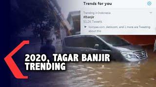 Tahun Baru 2020, Tagar Banjir Trending