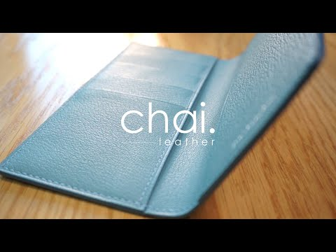 같은 가죽 다른 제품 가방vs.장지갑/long wallet using same leather as handbag_Time-lapse_leather craft/가죽공예