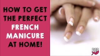 how to get french manicure at home   nail art designs popxo