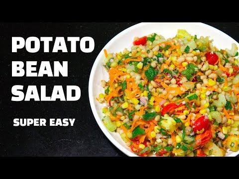 Potato Bean Salad Vegan Salad No Mayo Potato Salad