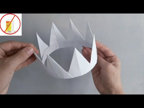 Qog'ozdan TOJ yasash / Eays Origami. Paper Crown / Корона из бумаги