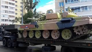 Военная техника после парада победы в Екатеринбурге