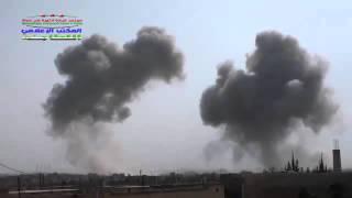 02 10 2015  Сирия  Бомбардировка  Съемка боевиков
