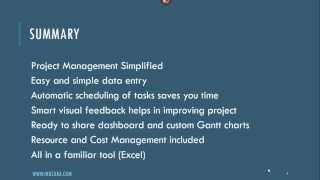 Project Manager V1 - Excel Template - Product Tour