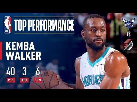 Kemba Walker Puts Up 40 in Overtime vs. the Blazers | February 8, 2018