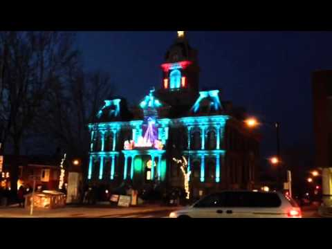 Guernsey Co. Courthouse lights 2012