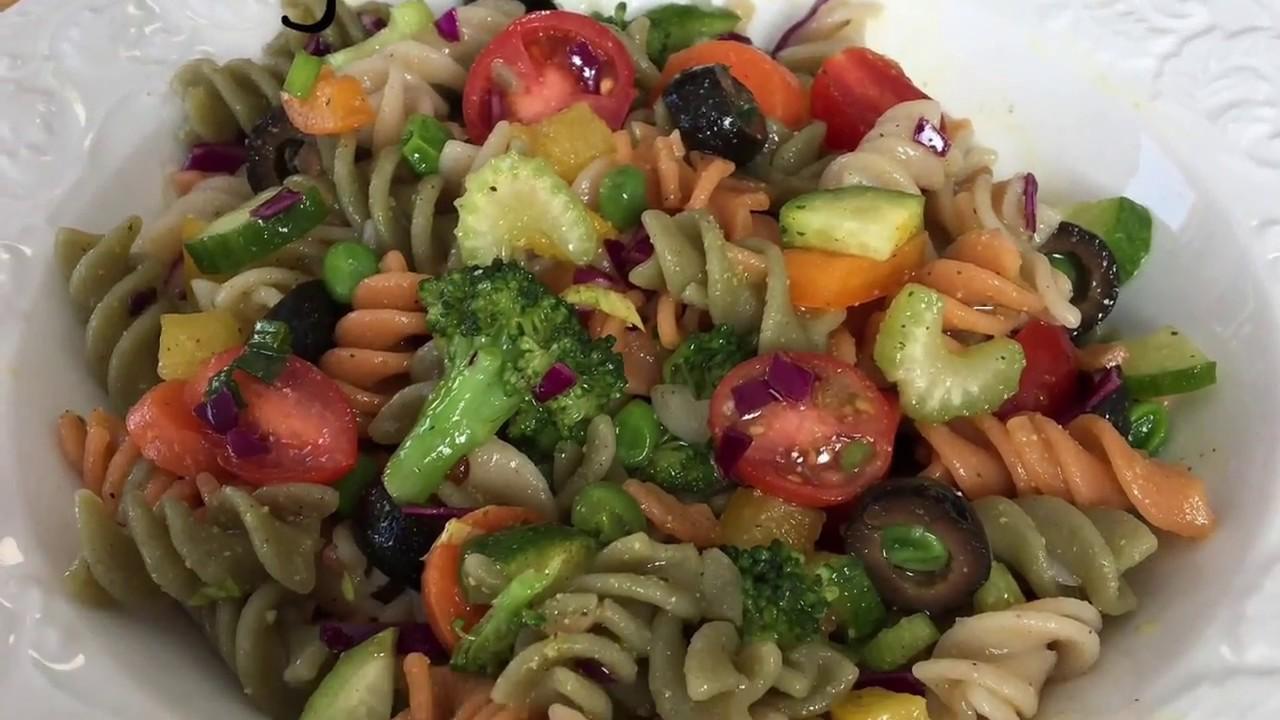 Copy of Scrum-didley-umptious Vegan Pasta Salad - YouTube