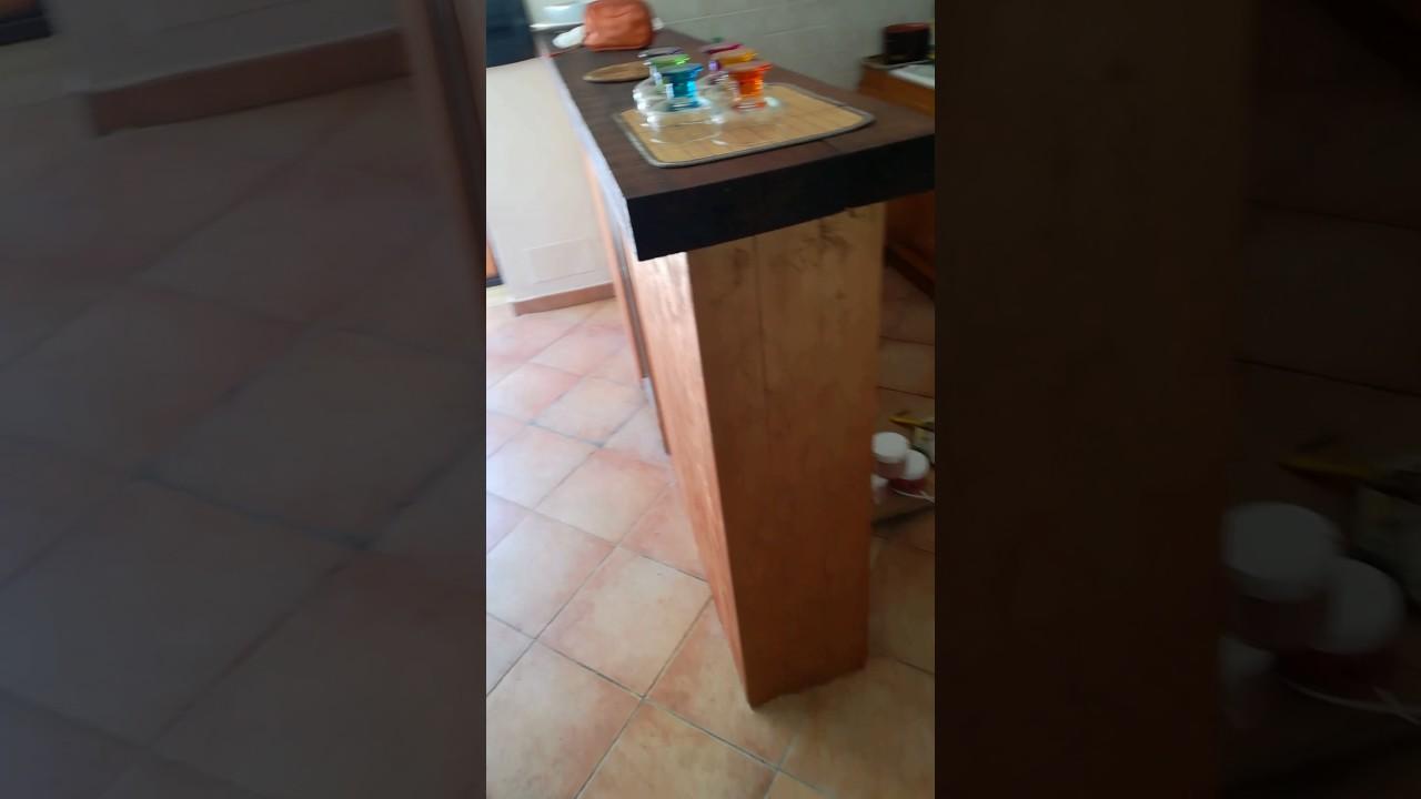 Mobile per separare la cucina dal salone 2 parte - YouTube