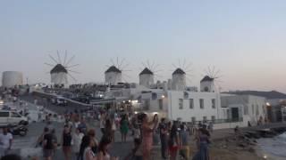 Mykonos sunset / Закат на о. Миконос / Μύκονος(Закат на острове Миконос. На видео видны две основные достопримечательности: мельницы и Маленькая Венеция...., 2016-08-06T10:17:49.000Z)