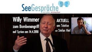 Willy Wimmer am Telefon - zu den Bomben auf Syrien - 14.4.2018 - SeeGespräche Aktuell