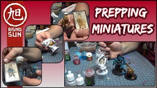 Prepping Miniatures for Rising Sun Live Painting