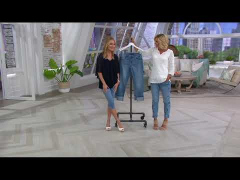 Laurie Felt Classic Denim Stiletto Jeans with Cuff on QVC