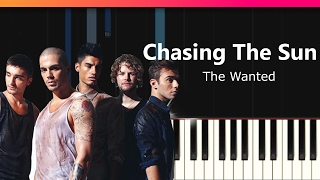 "The Wanted - ""Chasing The Sun"" EASY Piano Tutorial - Chords - How To Play - Cover"