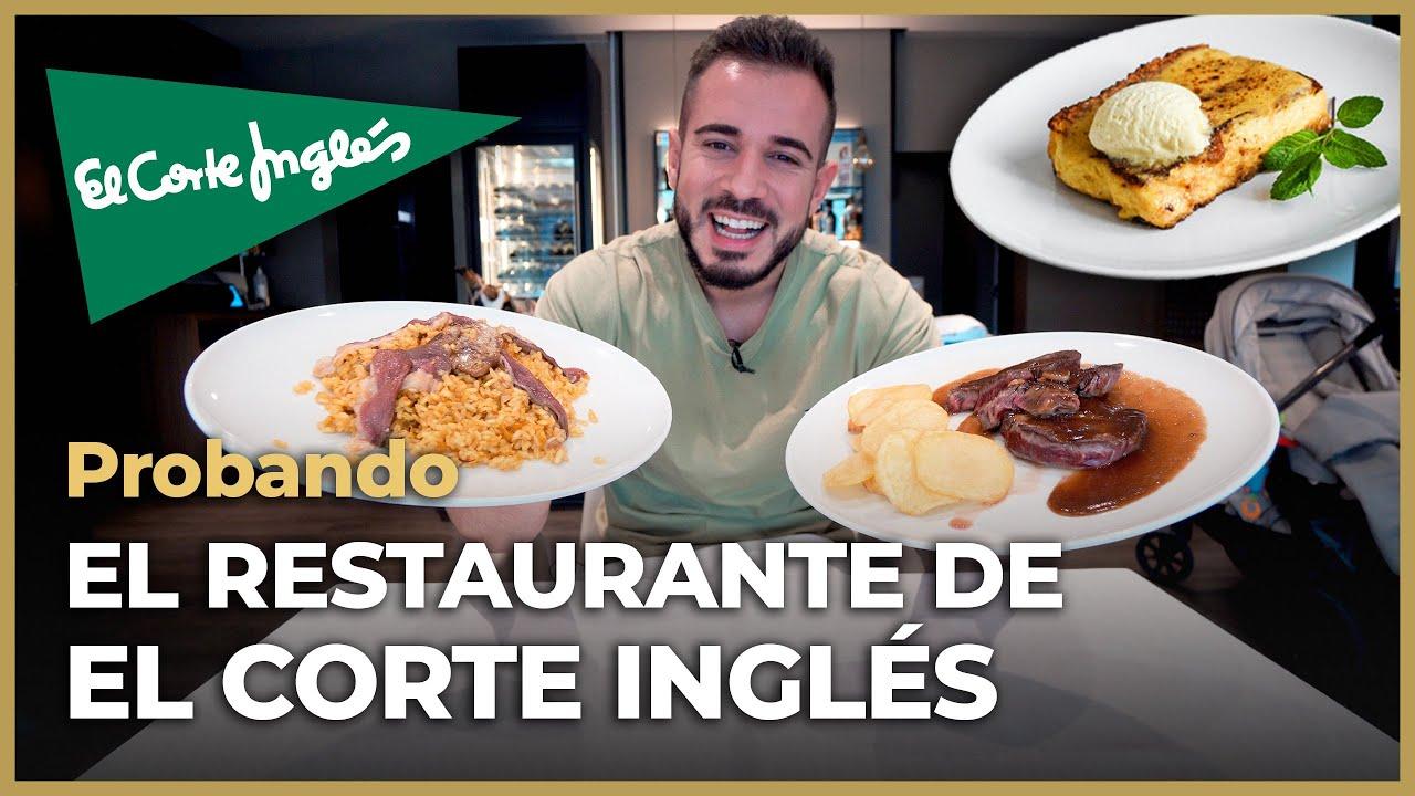Comiendo en el RESTAURANTE de EL CORTE INGLÉS - SORPRENDIDO!!