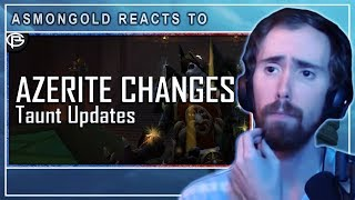 """Asmongold Reacts to """"Threat Changes Clarified and Azerite Balance going forward"""" by Preach"""