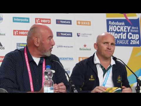Womens world cup hockey finals 2014 the Netherlands v australia press conference Australia