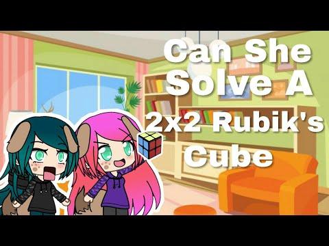 Can She Solve A 2x2 Rubik's Cube?!/CAN SHE CUBE??/Rubik's Cube