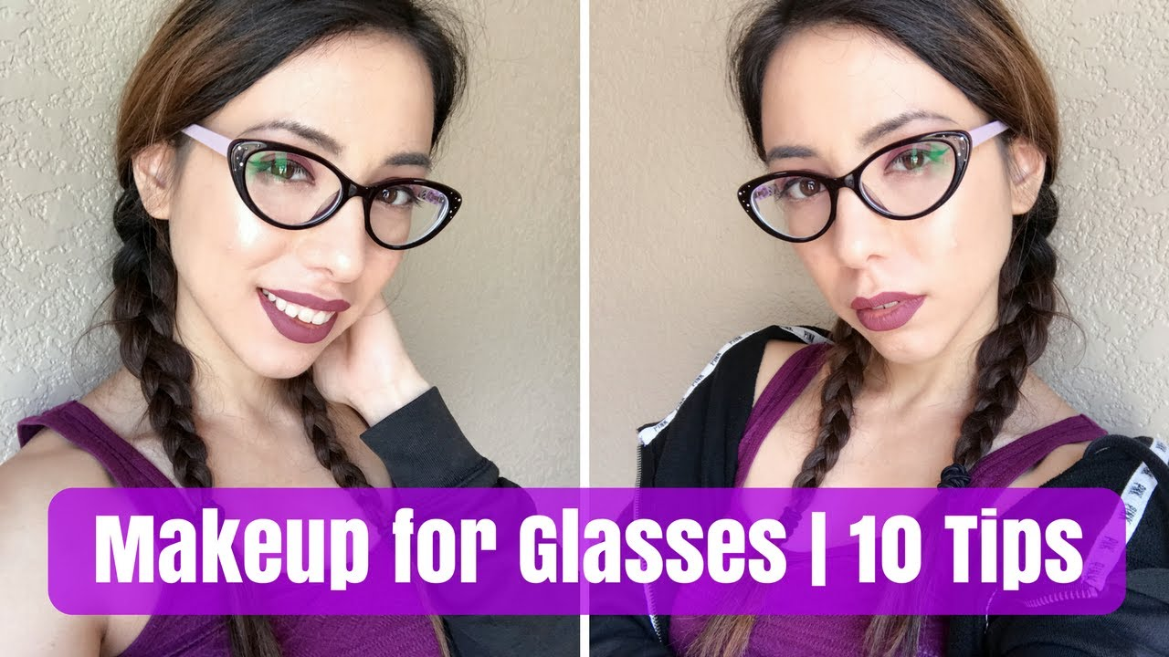 9 Makeup Tips for Glasses Wearers!  Feat. Firmoo Glasses