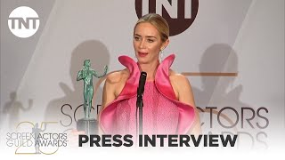Emily Blunt: Press Interview | 25th Annual SAG Awards | TNT
