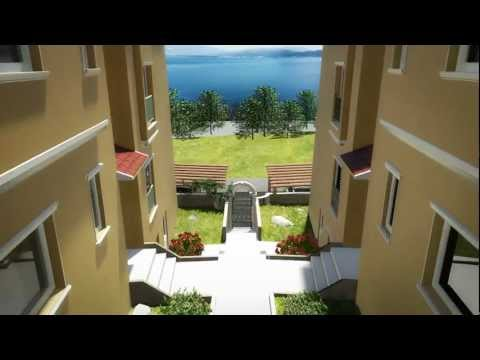 3d animation of building complex in Montenegro ( English) HD