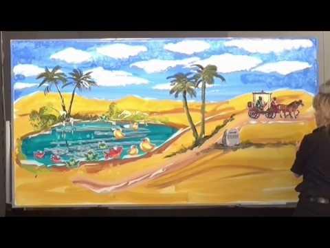 Whiteboardpainting Philippus und der Kämmerer