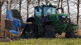 4 Track Deere | John Deere 6215R  with Zuidberg tracks | Ploughing 2018
